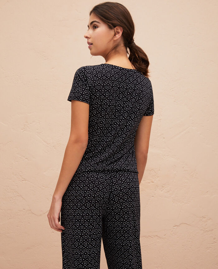 Short sleeve t-shirt Black chouia Latte