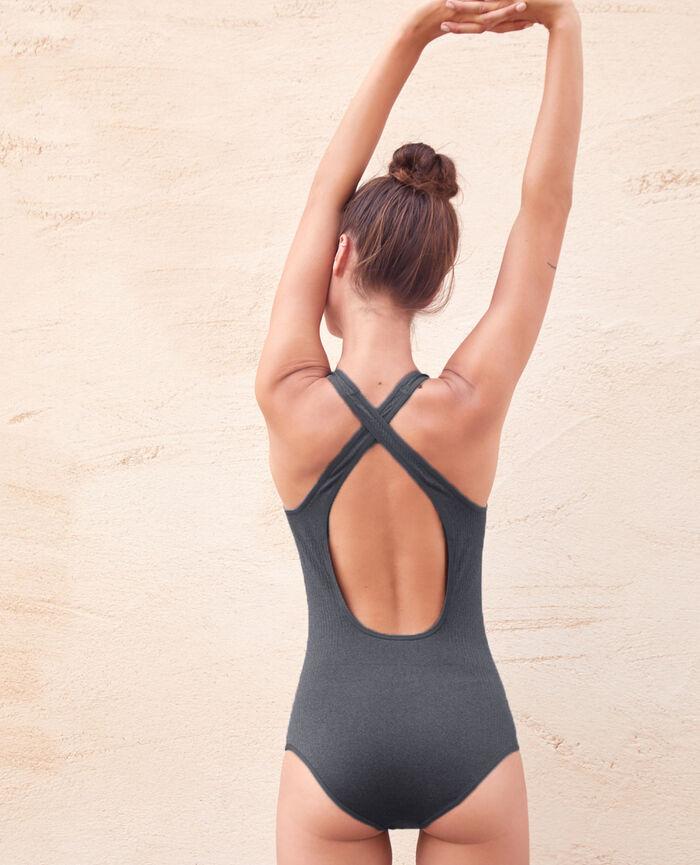 Body de sport Gris chiné Yoga