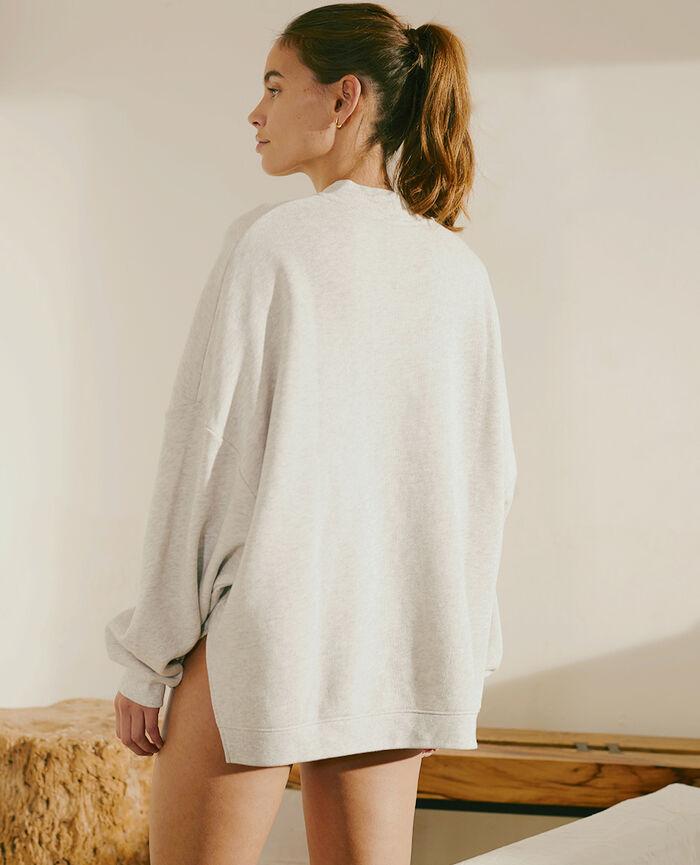 Sweater Light grey flecked Doudou