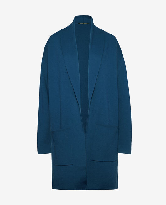 Medium-length jacket Jazz blue Soft