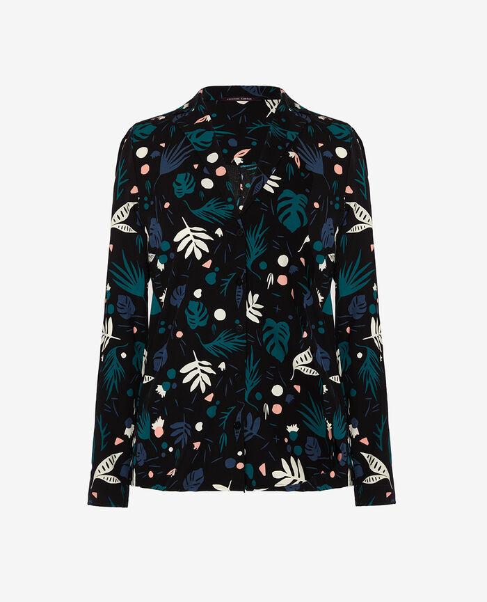 Pyjama jacket Veggie black Darling