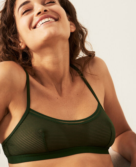 Wireless bralette Cypress green Horizon