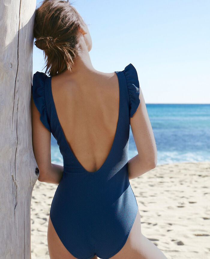 Swimsuit Deckchair blue Farah
