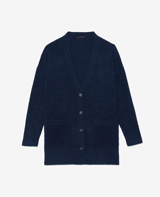 Long bathrobe Navy Vip