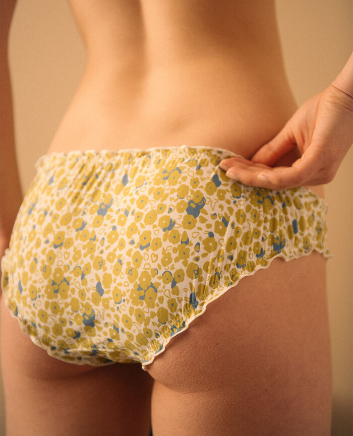 Culotte froufrou Liberty ivoire Take away