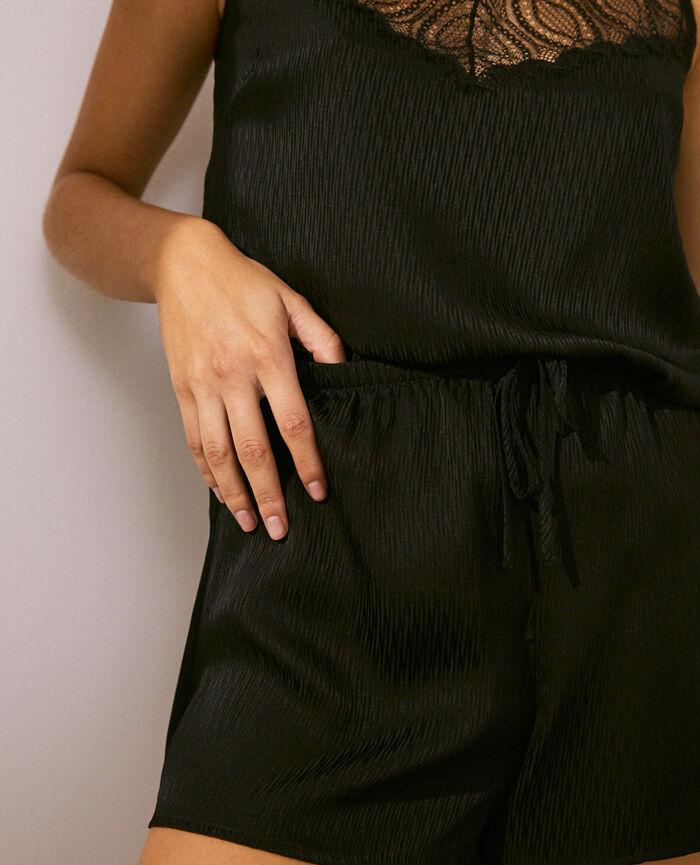 Short de pyjama Noir Fancy