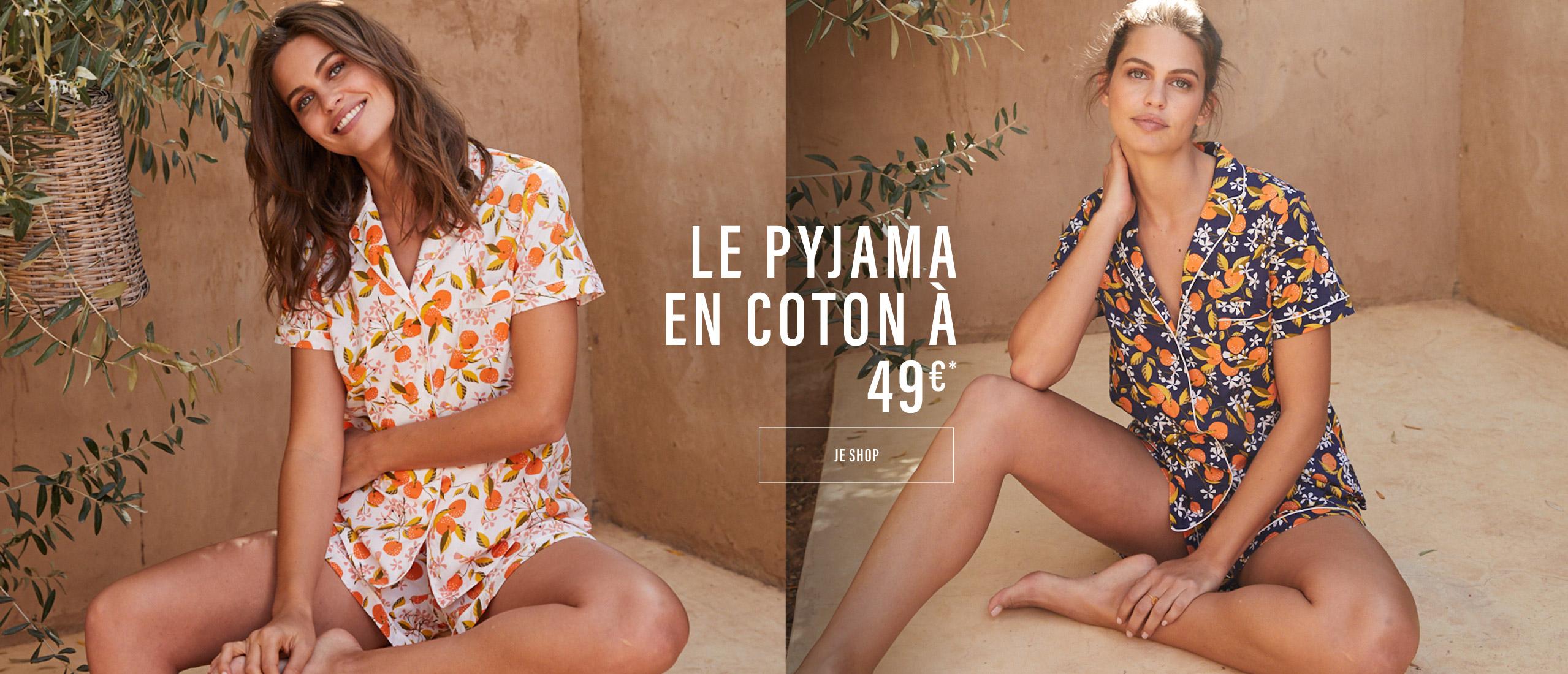 Le pyjama en coton à 49€*