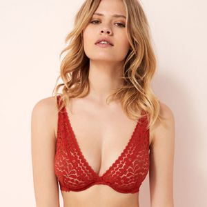 Soutien-gorge triangle grande taille Rouge