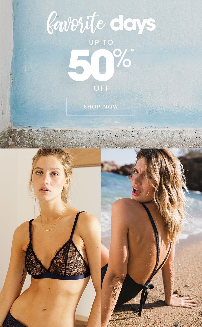 Favorite days up to 50% off