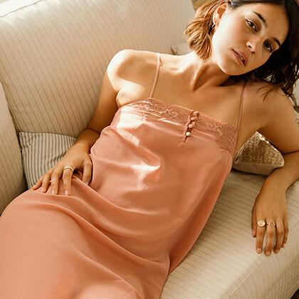 Pyjama femme en soie