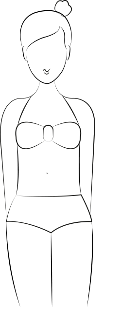 Maillot de bain morphologie H, silhouette rectangle