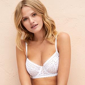 White Underwired bra