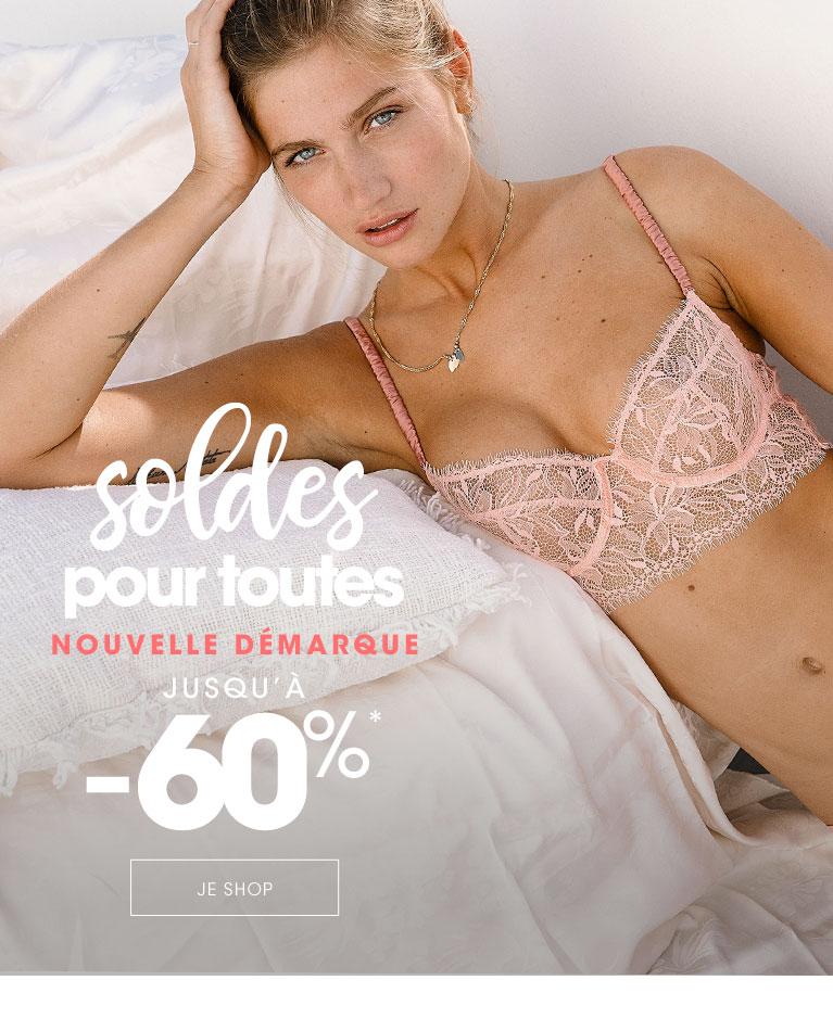 Soldes Lingerie femme & Maillot de bain jusqu'à -60%
