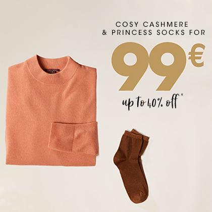 Pull en Cachemire femme et une paire de chaussette à 99€