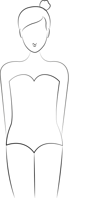 Maillot de bain morphologie O, silhouette sablier