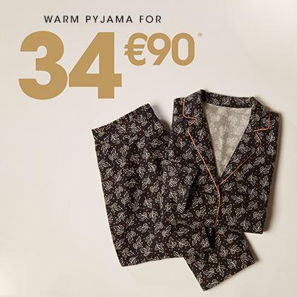 Pyjama chaud femme à 34,90€