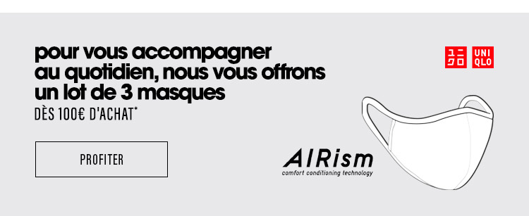 Trois masques offerts