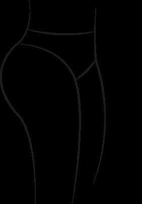 Curvy buttocks