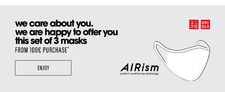 We offer you three masks