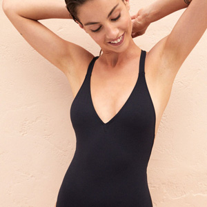 Black large cup size swimsuit Noir