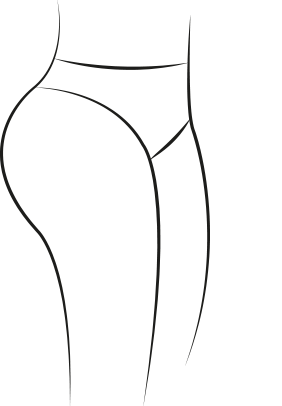 Culotte morphologie fesses rebondies