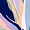Soft triangle bikini top Leafy faience blue FARAH COLOR - THE FEEL GOOD