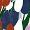 Padded triangle bikini top Lilac tulip DIVINE COLOR