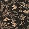 Pantalon carotte Prairie noir PARESSE PRINT