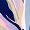 Short nightie Leafy faience blue FANCY VISCOSE